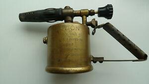 Burmos No 1 Vintage Brass Blow Lamp Torch