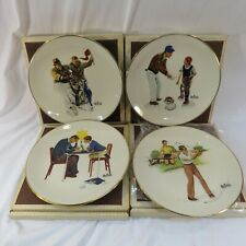 "Norman Rockwell Plates ~ 1982 Set of 4 ""Four Seasons"" ~ Fine Gorham China"