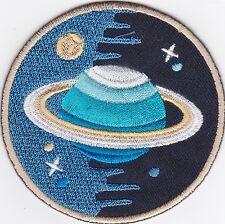 Aufnäher iron-on patch Bügelbild Space Explorer Raumfahrt Weltall Planet  -a7l4