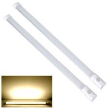 2X12V Fluoreszierend Schalter LED Wandleuchte Deckenlampe Lichtleiste Wohnmobil