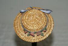 Original Vintage Straw Hat For Vintage Composition Or Plastic Doll