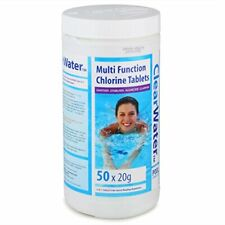 50x20g Chlorine Tablets for Hot Tub Swimming Pool Lay Z Spa Jacuzzi 1kg tubs
