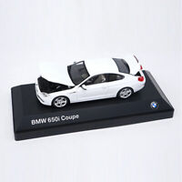 BMW 650i Coupe 1:43 Scale Model Car Metal Diecast Toy Kids Collection Gift White