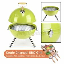 Portable Round Iron Kettle BBQ Grill Outdoor Camping Charcoal Stove with Vent