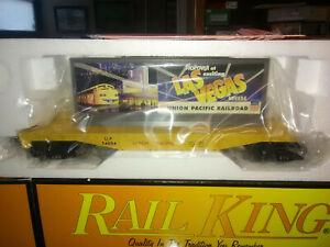 RAIL KING MTH O 027 GAUGE UNION PACIFIC FLAT CAR W/LAS VEGAS BILLBOARD HTF.