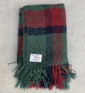 Vtg Churchill Weavers Handwoven Blanket Rayon Chenille Throw Plaid Tartan 48x67