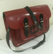 Oxbridge Satchel Shop Red Quality Genuine Leather Satchel School Bag