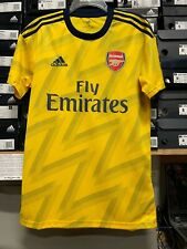 Adidas Arsenal Away Jersey 19/20 Yellow Navy Blue Stadium Cut Men Size Medium