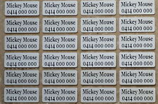 36 IRON ON Personalised Name Stickers Tag / Label for clothing, 2.2 X 0.9 CM