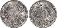 PCGS MS64 MS-64 1906-J Mint Mark Germany-Empire 1/2 Mark Silver RARE HIGH GRADE