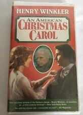 NEW Henry Winkler An American Christmas Carol SUPER RARE (VHS,1995) SEALED