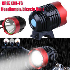 3000LM XML T6 USB LED Headlamp Bike Bicycle Light Headlight 3 Mode Flashlight