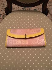 Just  Cavalli Purse,Pink & yellow .Authentic