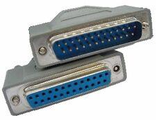 PC Serial Printer Lead / Cable, DB25 Female (socket) to DB25 Male (plug) F/M, 2M