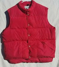 Vintage LL Bean Goose Down Puffer Vest Mens Large Tall Red Made In USA Sz L