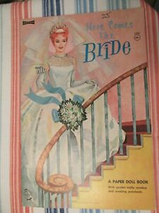 VTG HERE COMES THE BRIDE A PAPER DOLL BOOK