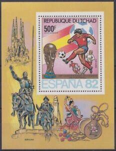 F-EX23727 CHAD TCHAD MNH 1982 WORLD CHAMPION SOCCER SPAIN FOOTBALL