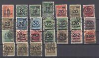 Dt. Reich Mi.Nr. 277-96, Freimarken 1923 gestempelt, geprüft Infla (27817)