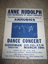 Vintage Goodman Theatre Anne Rudolph Poster Chicago IL