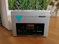 Vintage 1983 AIWA HS-P05 Mini Stereo Cassette Player Works Tested