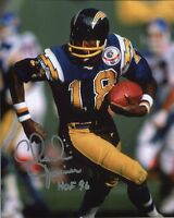 CHARLIE JOINER HAND SIGNED 8x10 COLOR PHOTO+COA   GREAT POSE   HOF 96   CHARGERS