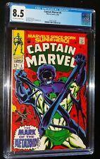 CAPTAIN MARVEL #5 1968 Marvel Comics CGC 8.5 VF+ STAN LEE