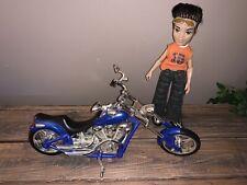 "Rare 2003 Mga Bratz 14"" Blue Chopper Motorcycle Lights Sound Works"
