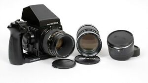 Bronica GS-1 6X7 camera + 120 back 110mm + 250mm lenses + speed grip + AE Prism