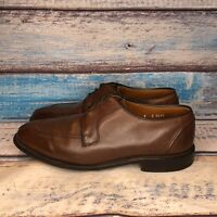 Allen Edmonds USA Made Hancock Mens 9 D Brown Leather Split Toe Oxfords Shoes