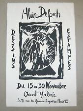 Alain Delpech affiche originale1984 Montauban original poster art DESSIN GRAVURE