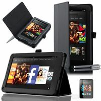 """High Quality PU Leather Amazon Kindle Fire 7"""" (Non-HD 2012 Version) Stand Cover"""