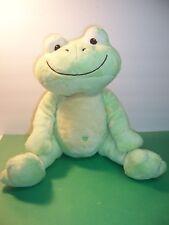 "PB Piccolo Bambino - Sitting 14"" Frog Green Plush w/ Heart Belly Button - Ex"