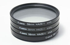 Genuine Canon 58mm Haze Haze-1 filter for 75-300mm 55-250mm 18-55 IS II lens etc