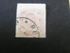 *LUXEMBOURG, SCOTT # 13,1c. VALUE RED BROWN 1865-71 ROULETTED ISSUE USED