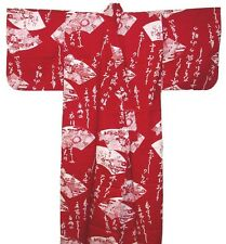 "Japanese Women Yukata Kimono Made in Japan 54"" #S EK316"