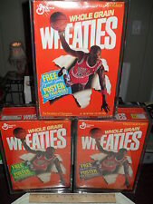 WHEATIES - MICHAEL JORDAN  #73Z (3) SEALED CEREAL BOXES A,B & C w/ CASES *LQQK*
