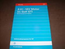 SSP 157 Selbststudienprogramm VW Golf III 3 GTI 2,0l 16V Motor Digifant