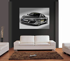 AUDI R8 Ref 01 Giant Wall Art Print Picture Poster