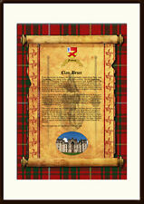 CLAN BRUCE - Clan History, Tartan, Crest, Castle & Motto MOUNTED PRESENTATION