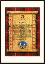 CLAN BRUCE - Clan History, Tartan, Crest, Castle & Motto MOUNTED PRESENTATION