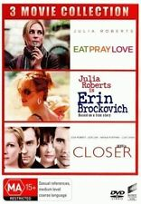 Eat Pray Love / Erin Brockovich / Closer (Julia Roberts) (3 Discs) = NEW (D81)