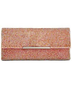 NEW INC Hether Shiny Rainbow Mesh Clutch Handbag with Chain Strap NWT!