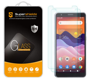 [2-Pack] Supershieldz Tempered Glass Screen Protector for ZTE Avid 579
