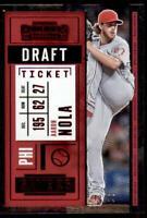 2020 Contenders Draft Ticket Red #19 Aaron Nola /99 - Philadelphia Phillies