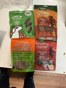 Bundle Of 10 Packs Of Natural Ingredient Dog Treats Mixed Flavours And Brands'