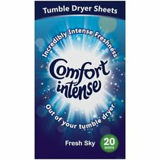 Comfort Intense Fresh Sky Tumble Dryer Sheets 20 per pack laundry fragrance