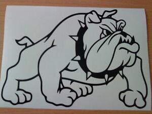 "small 7x5"" british english pit bull dog vinyl car side sticker graphic decal vw"
