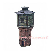 1/87 HO Scale Building Water Tower Railway Railroad 3D Cardboard Model Kit New