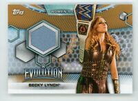 2019 TOPPS WWE Women's Division ~BECKY LYNCH~ EVOLUTION Mat RELIC #02/75