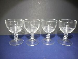 4 Vintage EAPG Ringed Ball stem Cordial Liquor Cocktail Glasses  3 1/2""